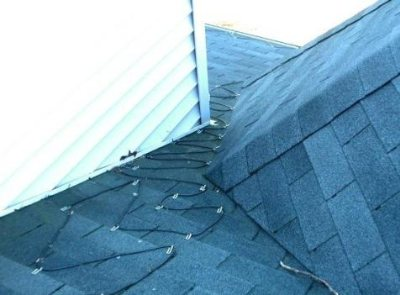 Heat Cables in Roof Valley to prevent roof leaks