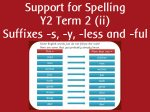Support for Spelling Y2 Term 2
