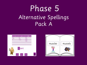 Alternative spellings for phonemes