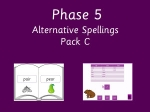 Letters and sounds phase 5 alternative spellings