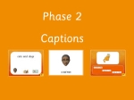 Phase 2 captions - interactive whiteboard resource