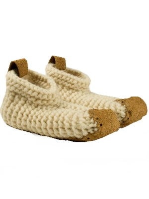 hand knitted wool slippers, ethical gifts online