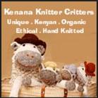 Kenana Knitter Critters handmade organic plush toys