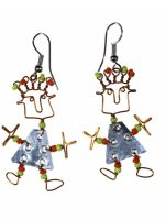 Eco-friendly and Fair-Trade Jewellery, Dancing Girl Earrings