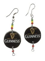 Recycled bottletop Earrings - Fun Recycled Jewellery