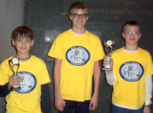 First Lego Robotics League Gold Medalists