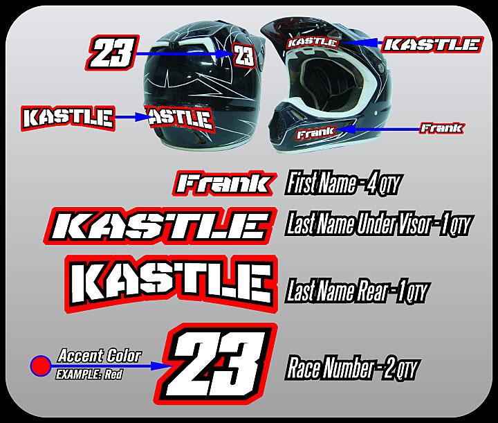 Roost Mx Motocross Graphics Helmet Id Kit Stencil