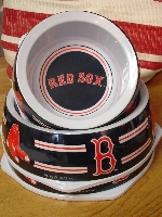 Red Sox Dog Bowls