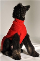 Wool Cable Dog Sweater