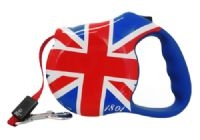 Union Jack Retractable Leash