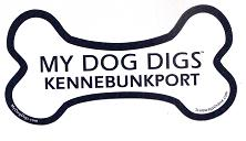 My Dog Digs Kennebunkport Decal