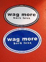 Wag More Bark Less Sticker & Magnet