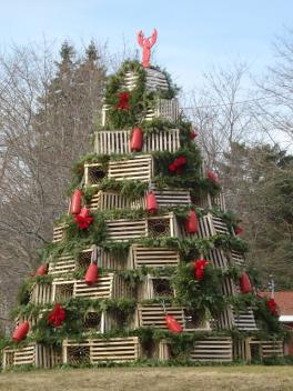 Lobster Pot Tree in Cape Porpoise, Maine